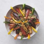 Sweet baked root vegetables