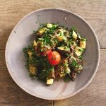 Zucchini eggplant salad